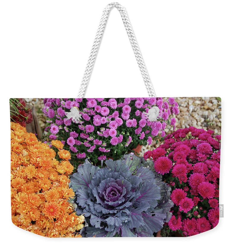 Flowers Weekender Tote Bag featuring the photograph Bennington Farm 8273 by Guy Whiteley