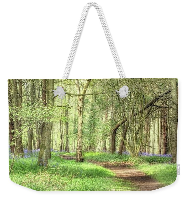 Nature Weekender Tote Bag featuring the photograph Bentley Woods, Warwickshire #landscape by John Edwards