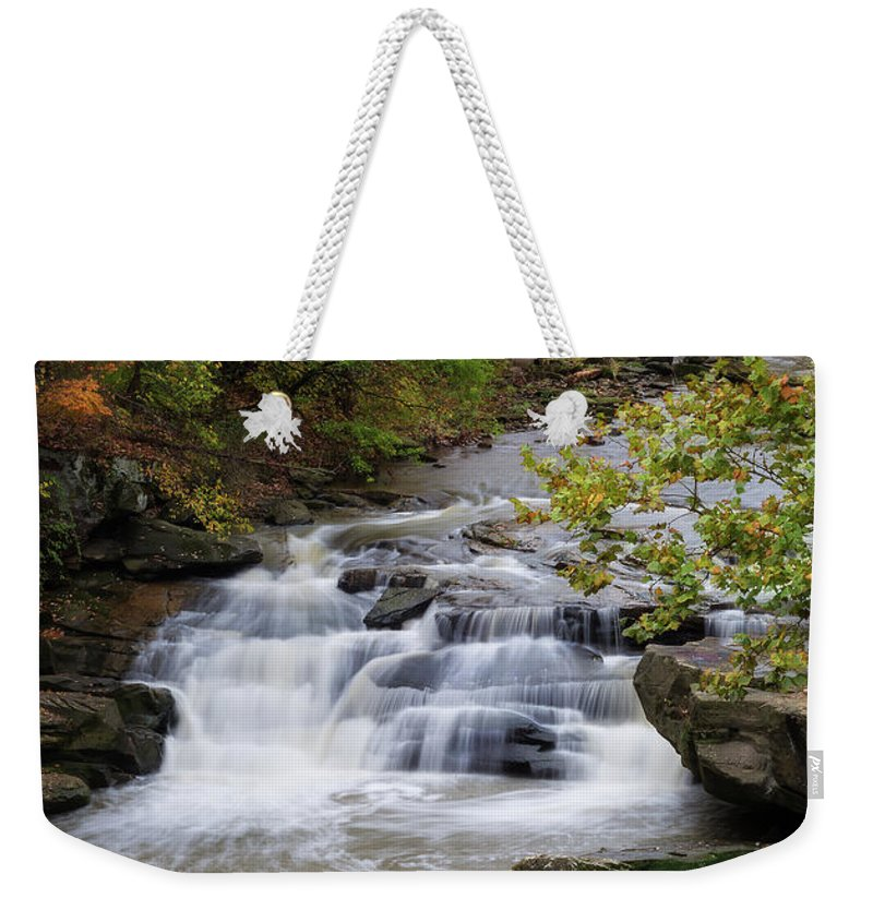 Berea Falls Weekender Tote Bag featuring the photograph Berea Falls by Dale Kincaid
