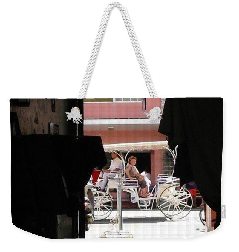 Bermuda Weekender Tote Bag featuring the photograph Bermuda Carriage by Ian MacDonald