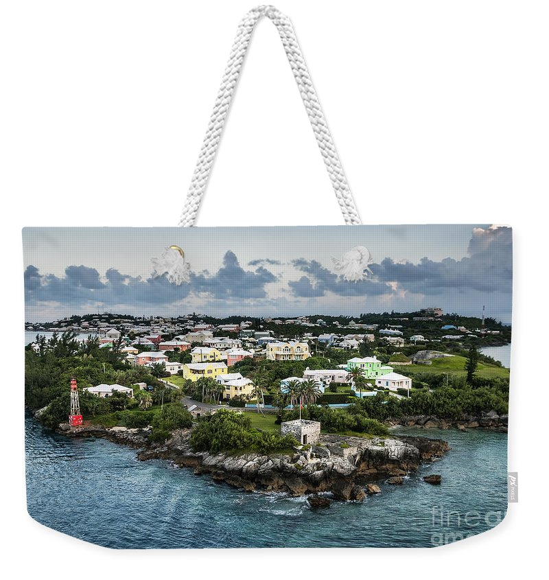 Aerial Weekender Tote Bag featuring the photograph Bermuda by John Greim
