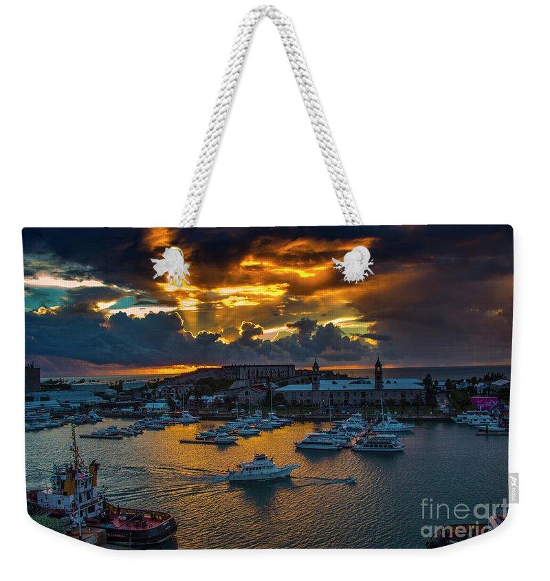 Sunset Weekender Tote Bag featuring the photograph Bermuda Sunset by Roberta Bragan