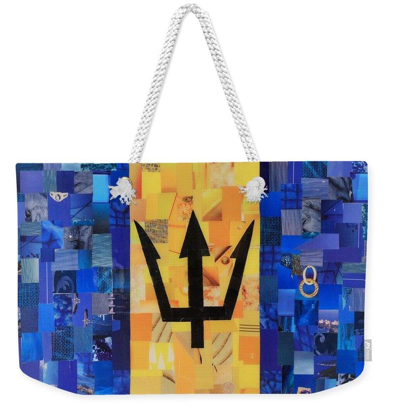 Bermudas Flag Weekender Tote Bag featuring the mixed media Bermudas Flag by Claudia Di Paolo