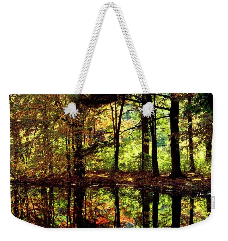 Bernharts Dam Weekender Tote Bag featuring the photograph Bernharts Dam Fall 006 by Scott McAllister
