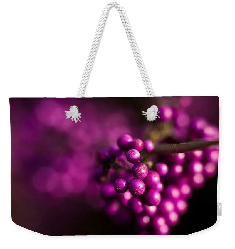 Beauty Berries Weekender Tote Bag featuring the photograph Berries Still Life by Mike Reid