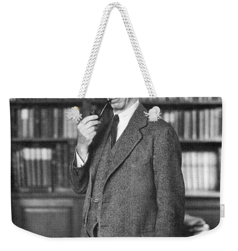1935 Weekender Tote Bag featuring the photograph Bertrand Russell by Granger