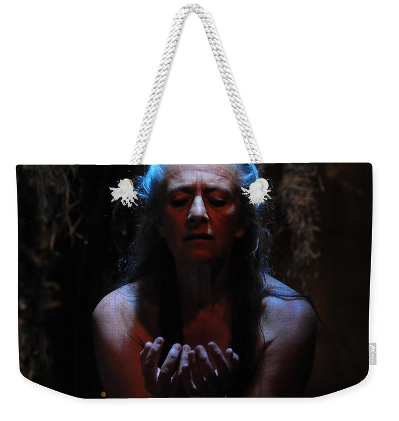 Beseech Weekender Tote Bag featuring the photograph Beseeching by Scott Sawyer