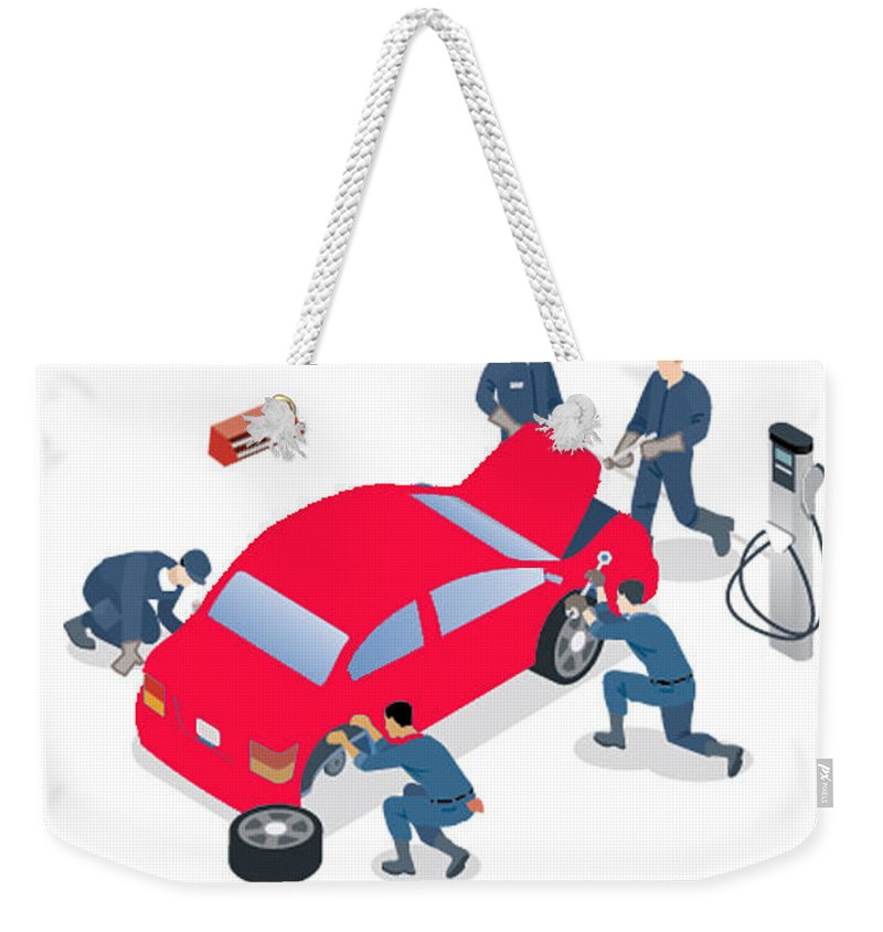 Maruti Service Center In Gurgaon Weekender Tote Bag featuring the photograph Best Car Service Center In Gurgaon by Runvijay Kumar
