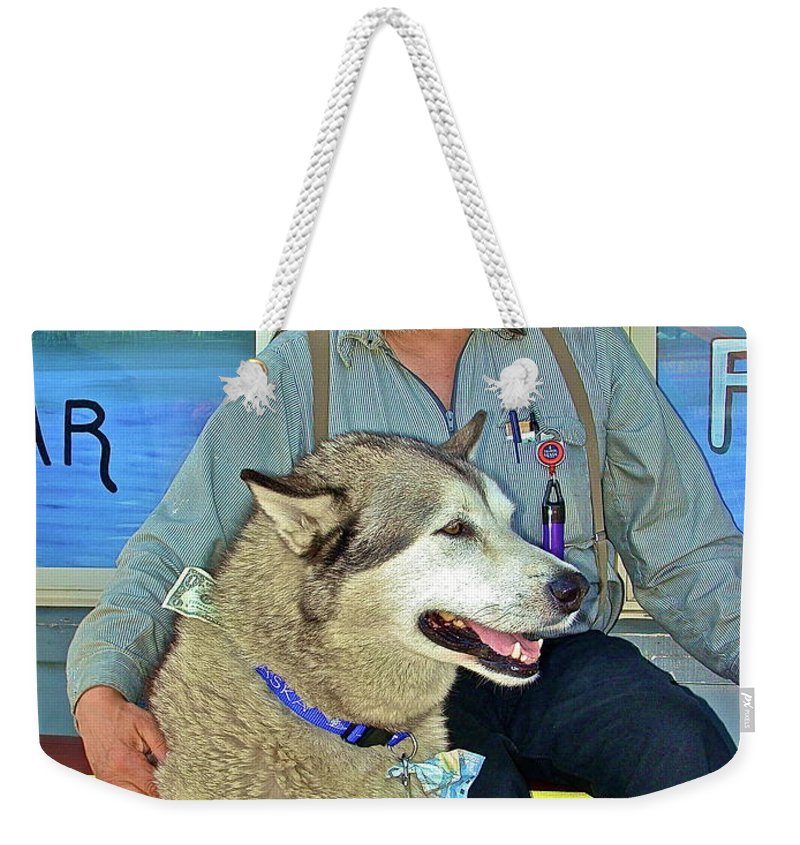 Pets Weekender Tote Bag featuring the photograph Best Friend by Diana Hatcher