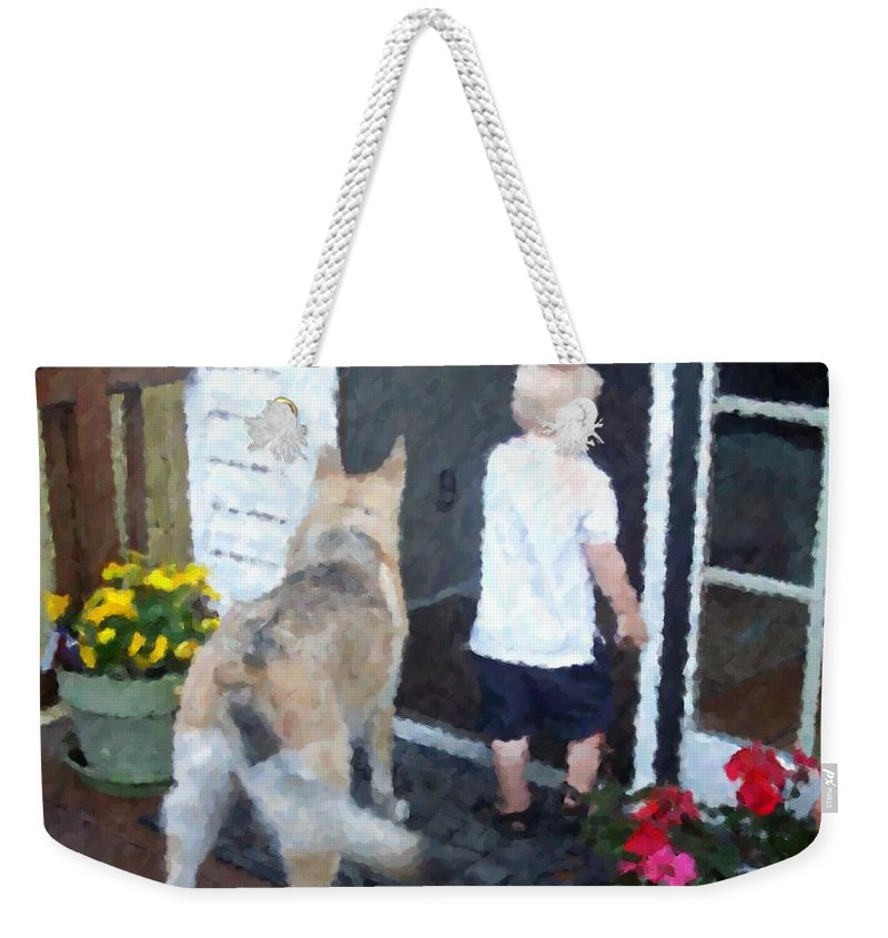 Dogs Weekender Tote Bag featuring the photograph Best Friends by Debbi Granruth