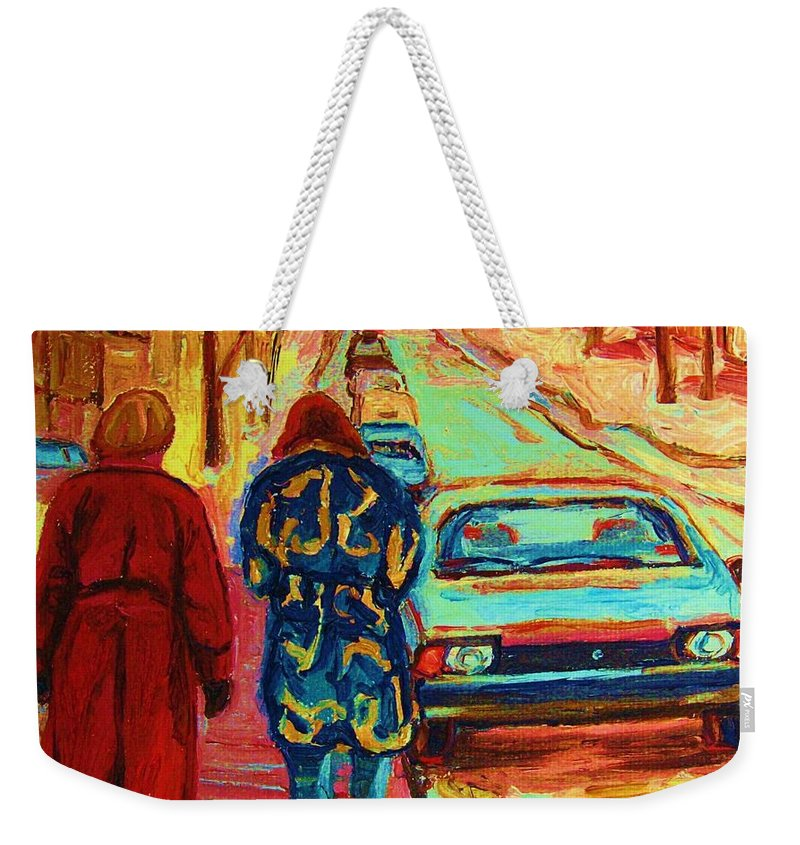 Inspirational Weekender Tote Bag featuring the painting Best Friends Forever by Carole Spandau