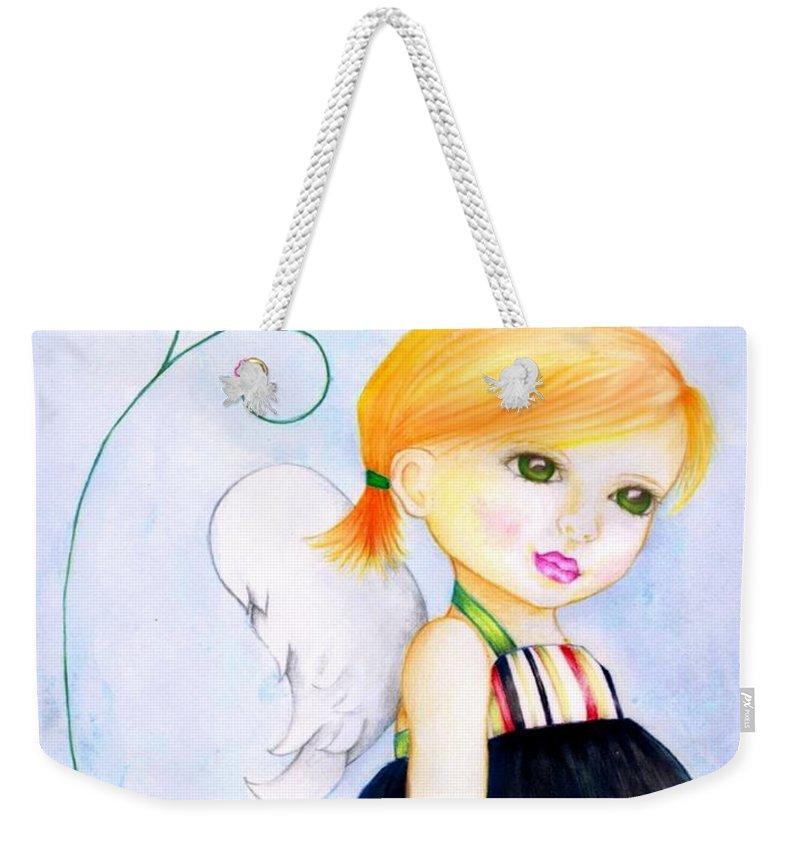 Children Weekender Tote Bag featuring the digital art Best Friends by Monica Magallon