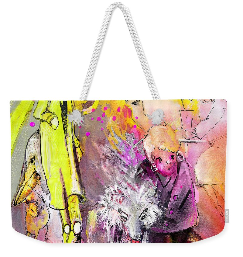 Acrylics Weekender Tote Bag featuring the painting Best In Show by Miki De Goodaboom