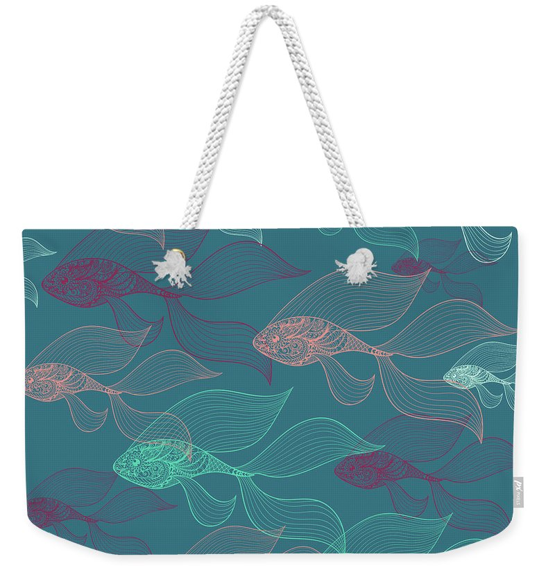 Dolphins Weekender Tote Bag featuring the photograph Beta Fish by Mark Ashkenazi