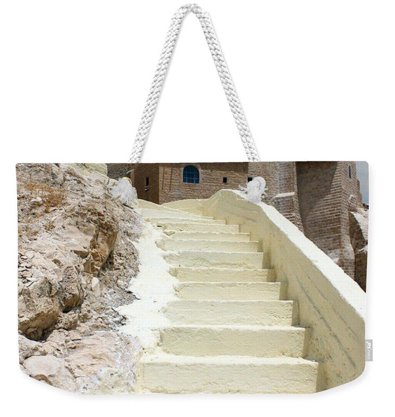 Bethlehem Weekender Tote Bag featuring the photograph Bethlehem - The Way To Mar Saba Monstary by Munir Alawi