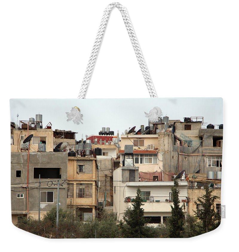 Bethlehem Weekender Tote Bag featuring the photograph Bethlehem Camp by Munir Alawi