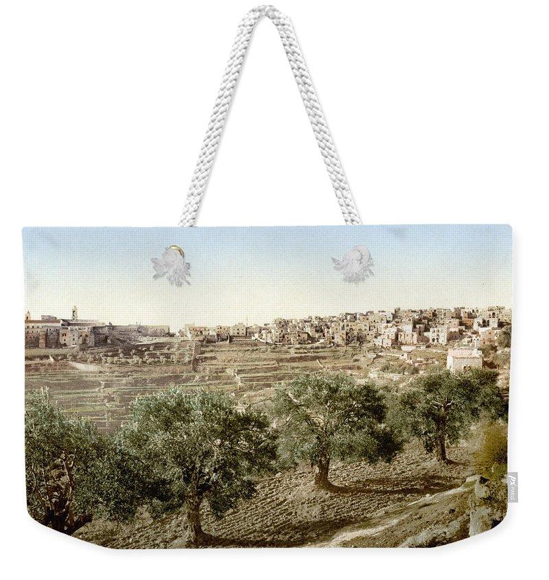 Bethlehem Weekender Tote Bag featuring the photograph Bethlehem Field 1890 by Munir Alawi