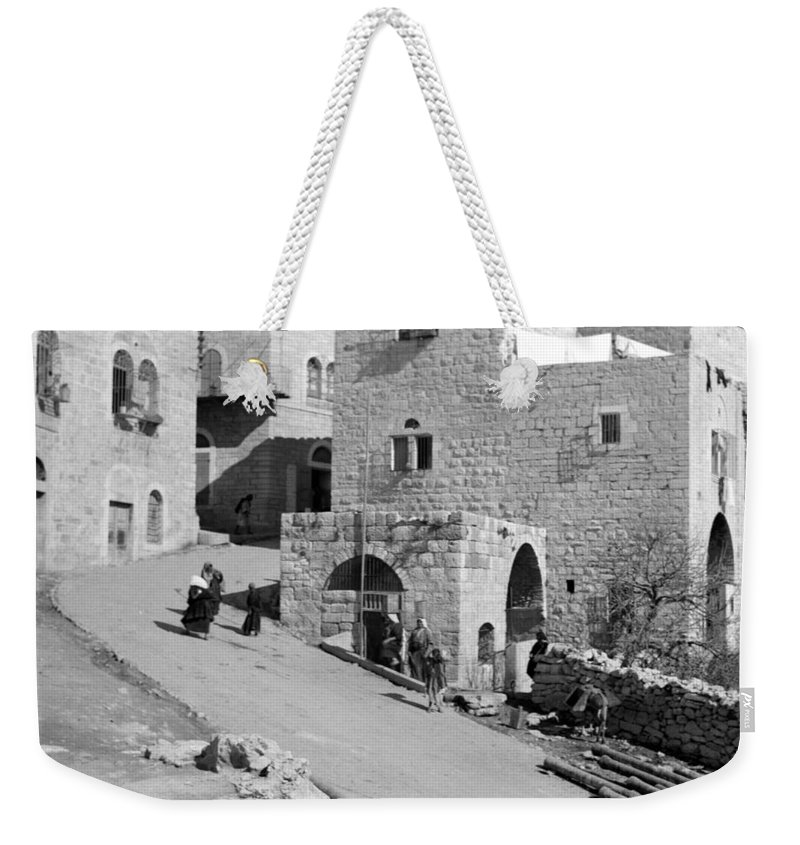 Home Weekender Tote Bag featuring the photograph Bethlehem Homes by Munir Alawi