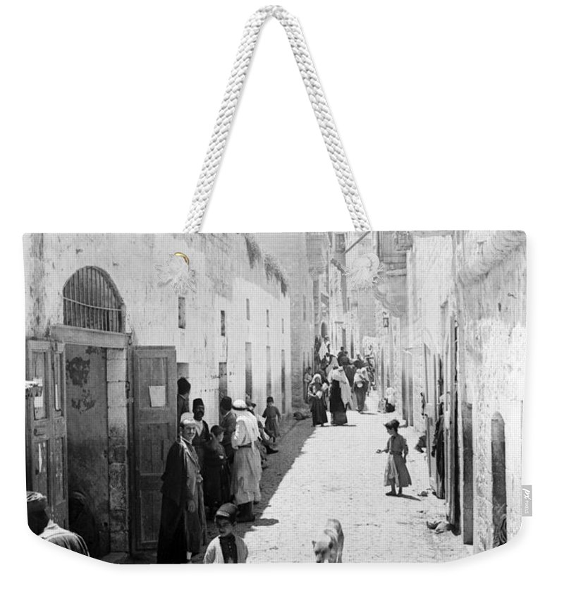Bethlehem Weekender Tote Bag featuring the photograph Bethlehem The Main Street 1800s by Munir Alawi