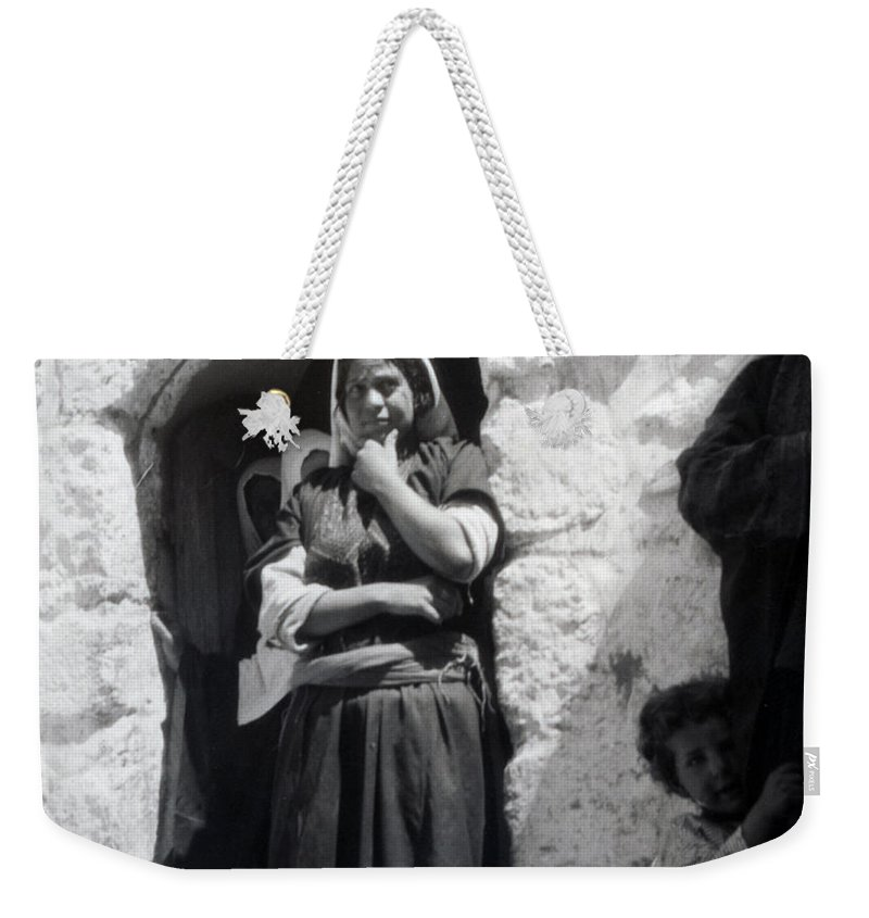 1900s Weekender Tote Bag featuring the photograph Bethlehemites Women 1900s by Munir Alawi
