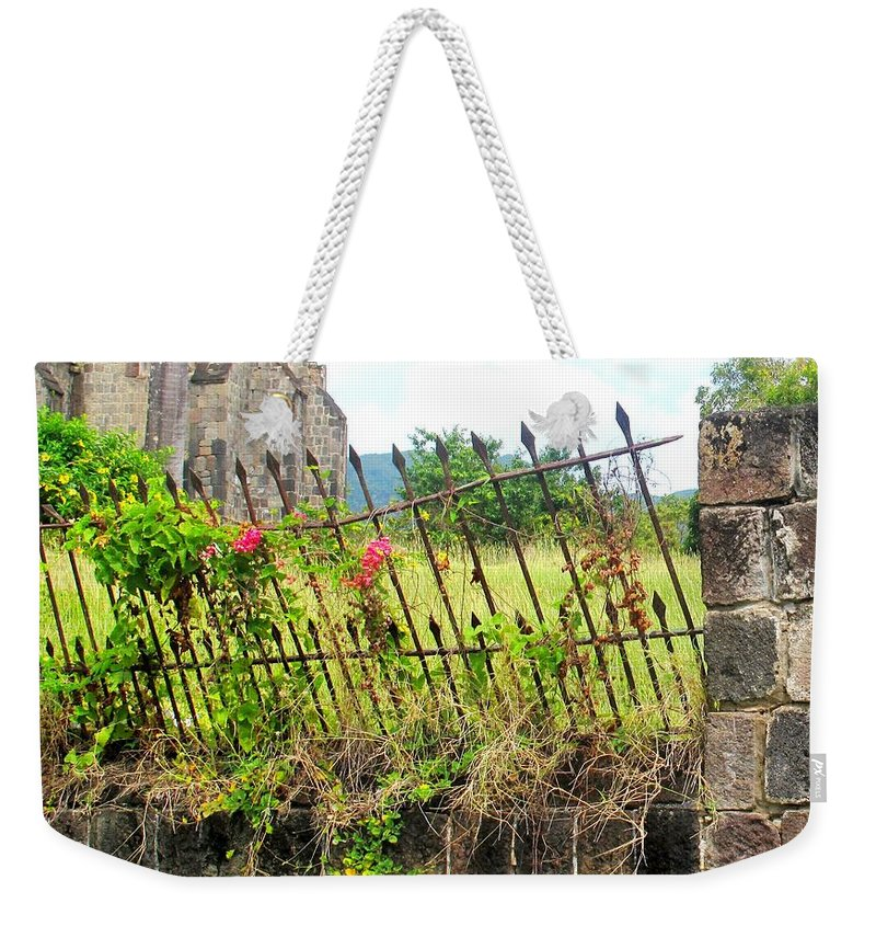 Church Weekender Tote Bag featuring the photograph Better Days by Ian MacDonald