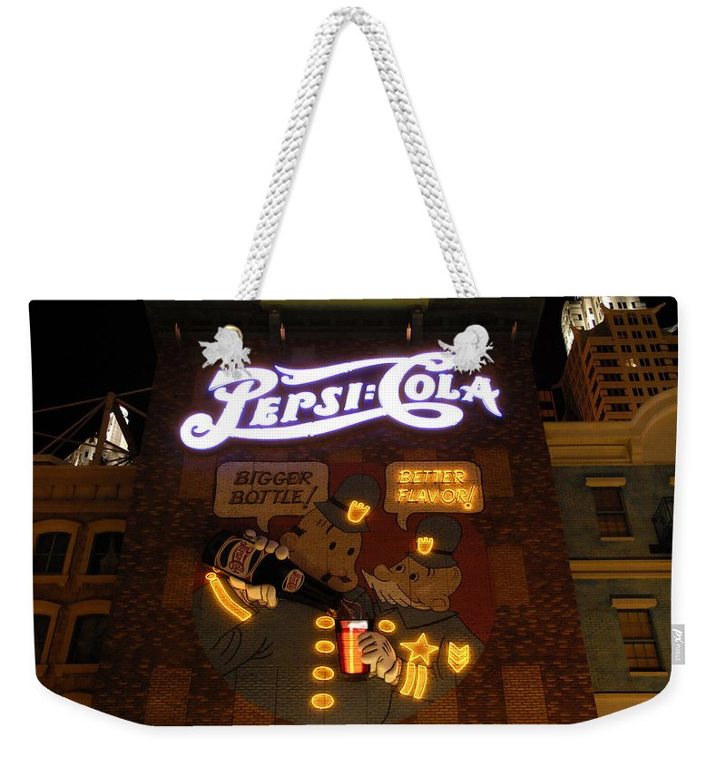 Pepsi Cola Weekender Tote Bag featuring the photograph Better Flavor by David Lee Thompson