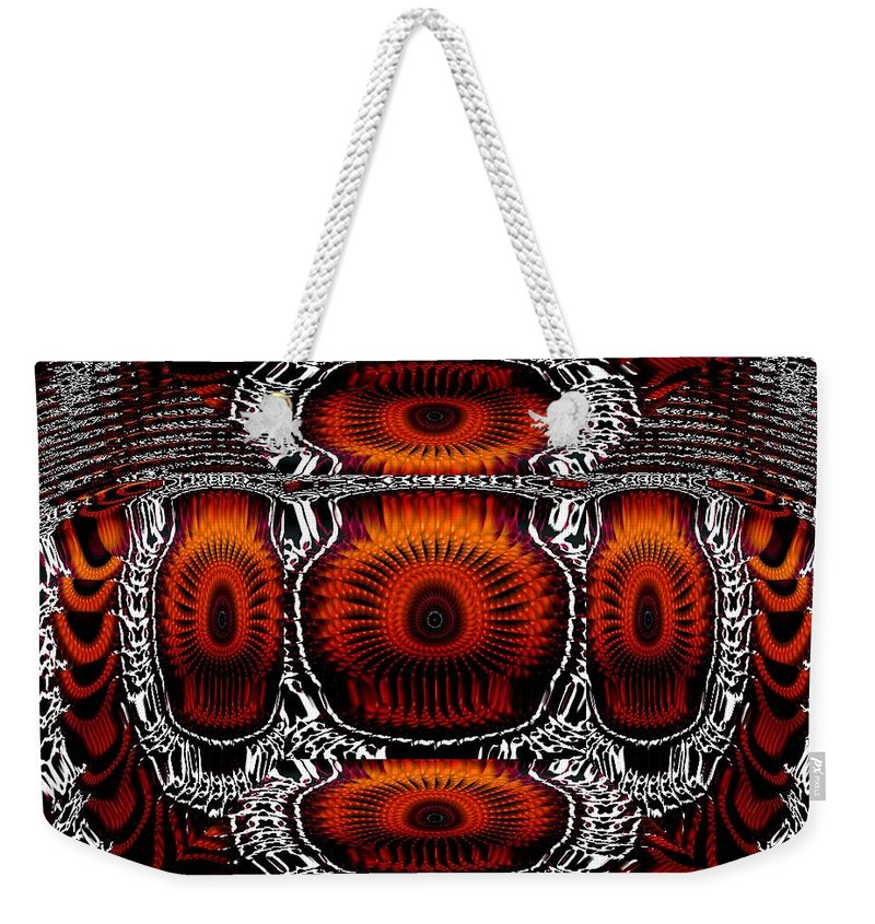 Abstract Weekender Tote Bag featuring the digital art Better Now by Robert Orinski