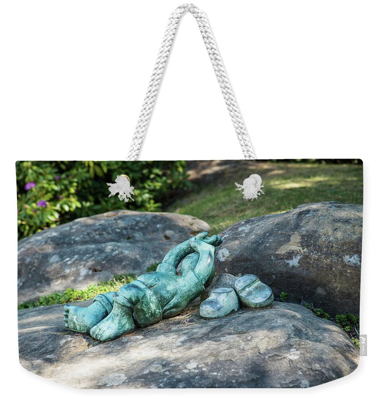 Sculpture Weekender Tote Bag featuring the photograph Better Than Studying by Tom Cochran