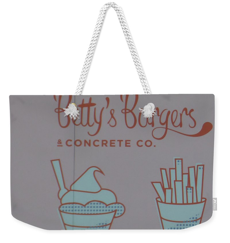 Betty's Burgers Weekender Tote Bag featuring the photograph Combo Meal by Bruce