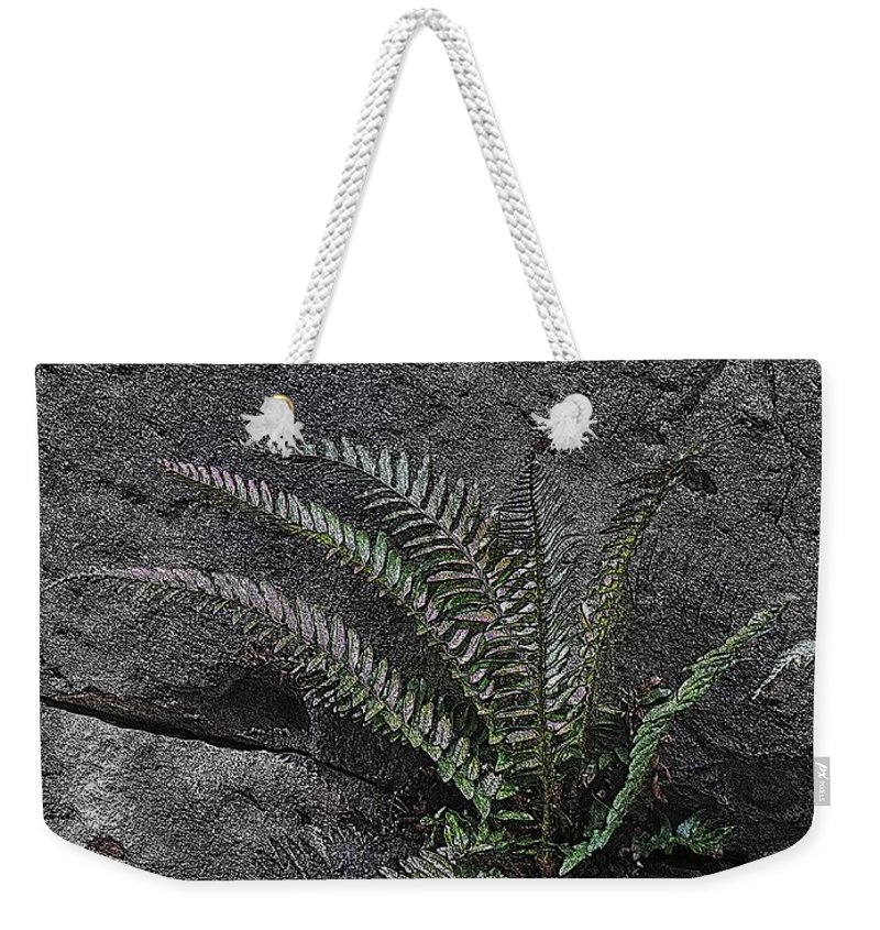 Rock Weekender Tote Bag featuring the digital art Between A Rock And A Hard Place by Tim Allen