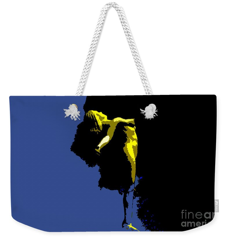 Heaven Weekender Tote Bag featuring the painting Between Heaven And Earth by David Lee Thompson