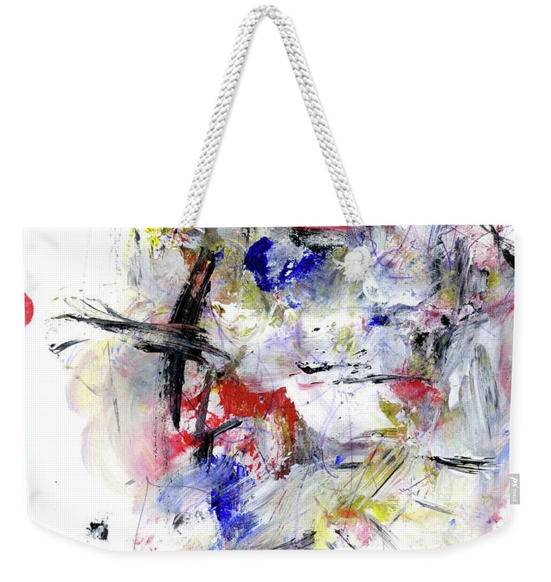 Abstract Weekender Tote Bag featuring the painting Between Jazz And The Blues by Dr Ernest Williamson III