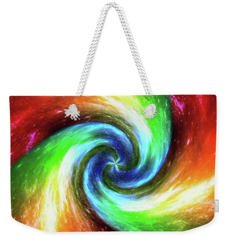Abstract Weekender Tote Bag featuring the mixed media Beyond Infinity . . .  by Di Designs