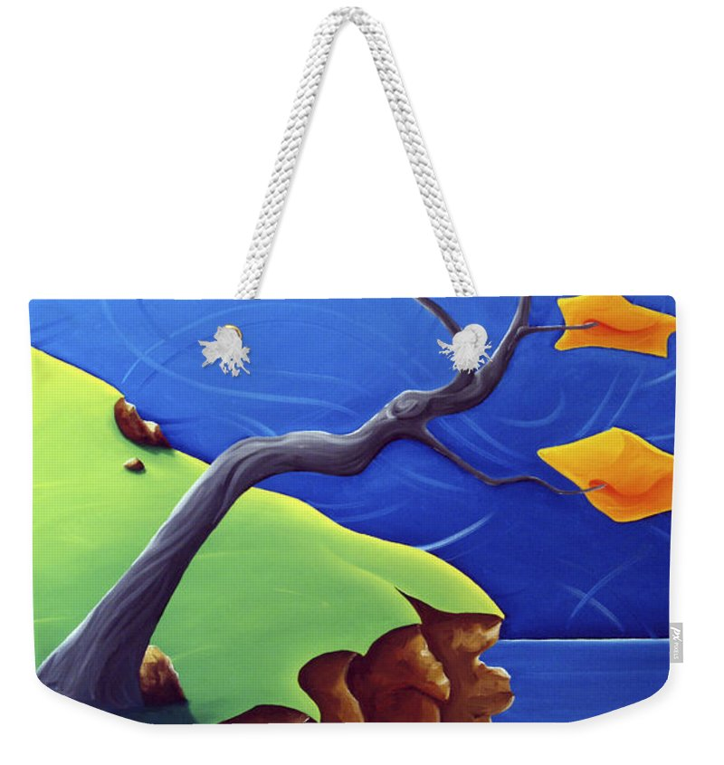 Landscape Weekender Tote Bag featuring the painting Beyond Limitations by Richard Hoedl
