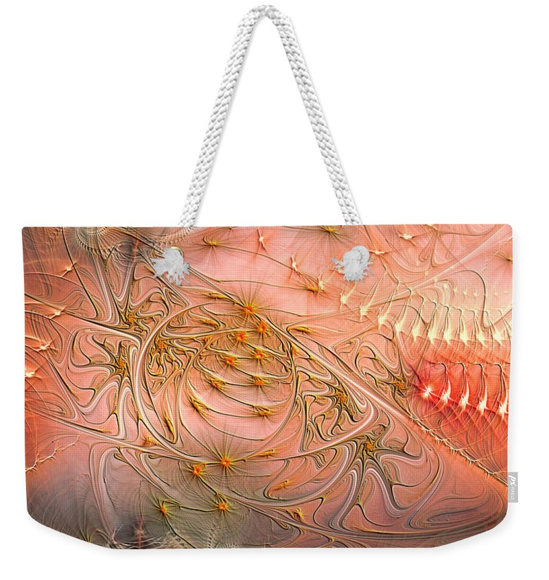 Abstract Weekender Tote Bag featuring the digital art Beyond Solipsism by Casey Kotas