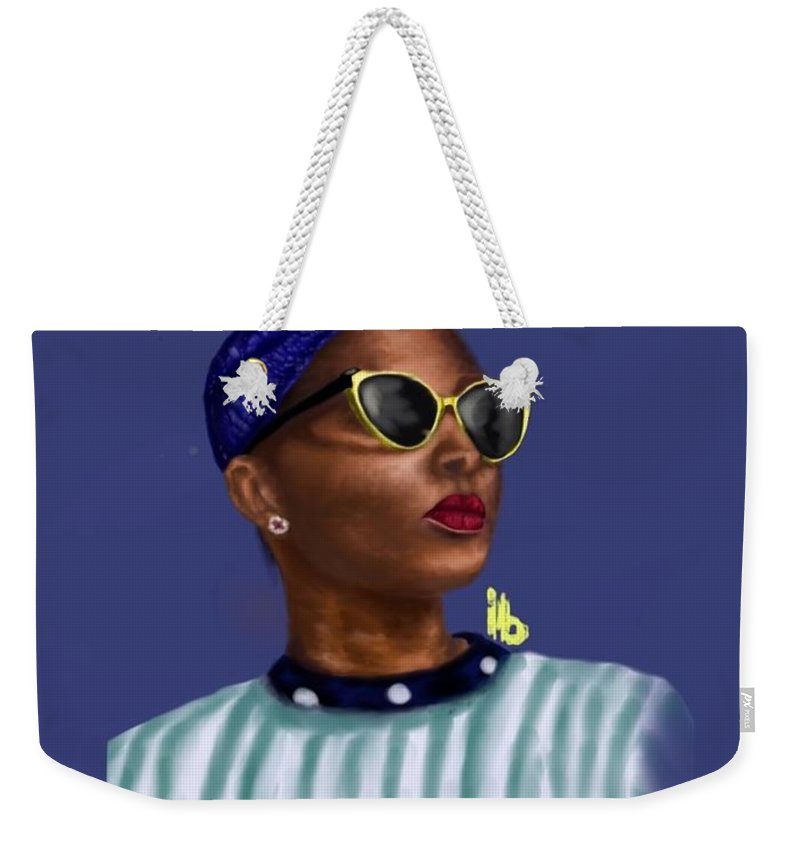 Beyound Is A Work Done In The Portrait Format Weekender Tote Bag featuring the digital art Beyound by Hubert Appiah