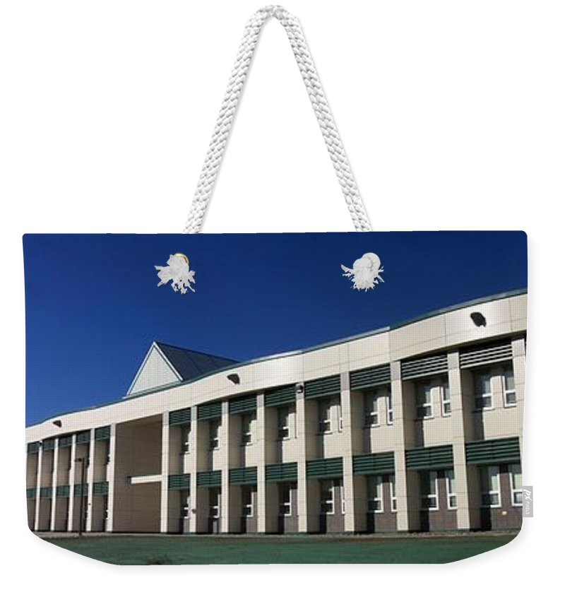 Battalion Hq Weekender Tote Bag featuring the photograph Bhq With Polar Bear Scupper by Ron Bissett