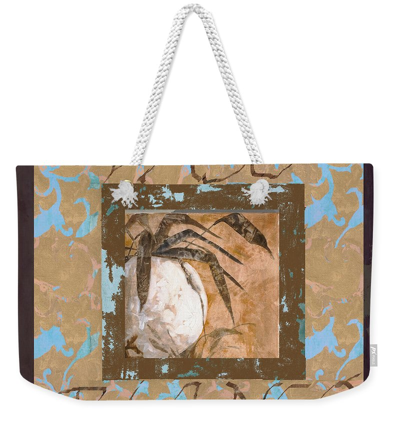 Decor Weekender Tote Bag featuring the painting Bianco Vinaccia by Guido Borelli