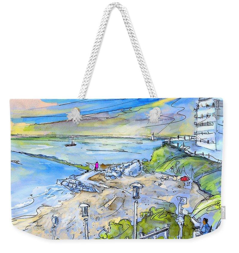 Biarritz Weekender Tote Bag featuring the painting Biarritz 26 by Miki De Goodaboom