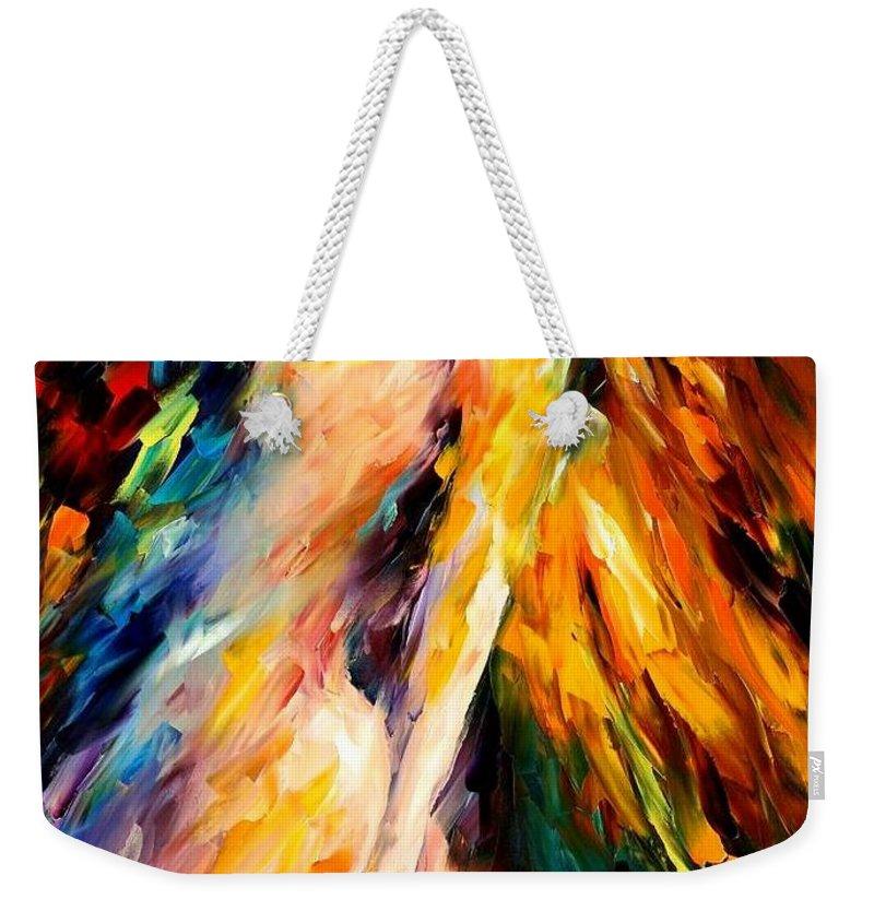 Afremov Weekender Tote Bag featuring the painting Bias by Leonid Afremov