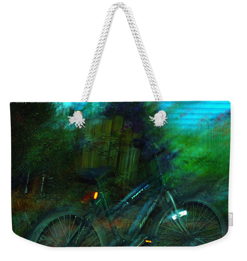 Clay Weekender Tote Bag featuring the photograph Bicycle by Clayton Bruster