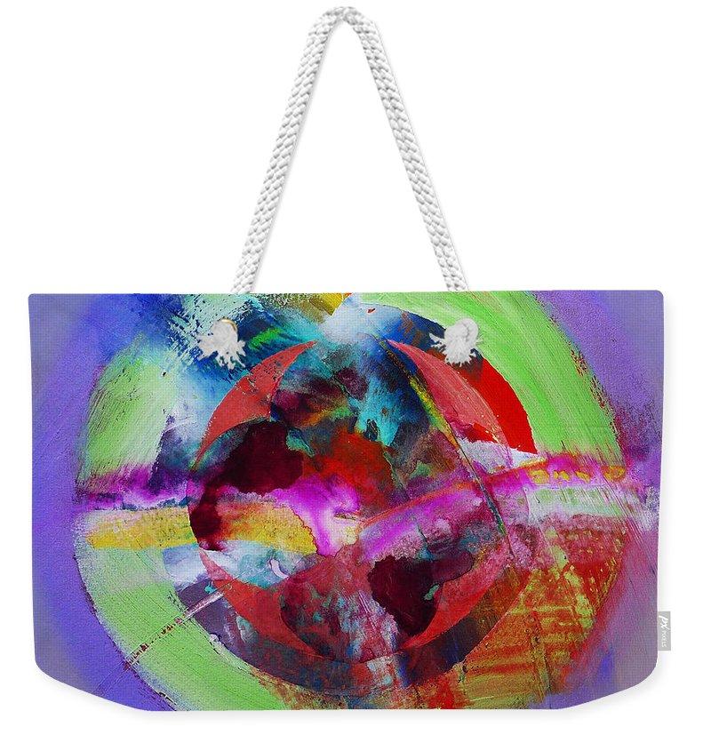 Big Bang Weekender Tote Bag featuring the painting Big Bang by Charles Stuart