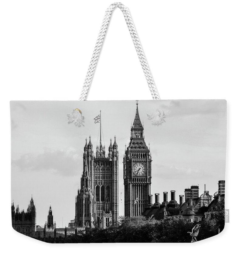 Big Ben Weekender Tote Bag featuring the photograph Big Ben by Bob Cuthbert