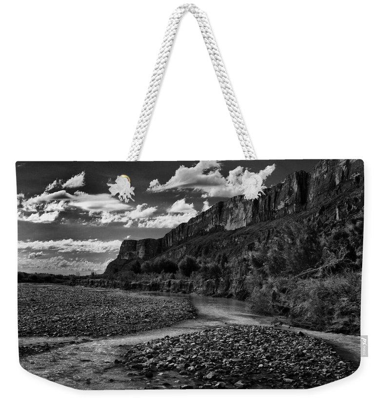 Black And White Weekender Tote Bag featuring the photograph Big Bend National Park by Renee Hong
