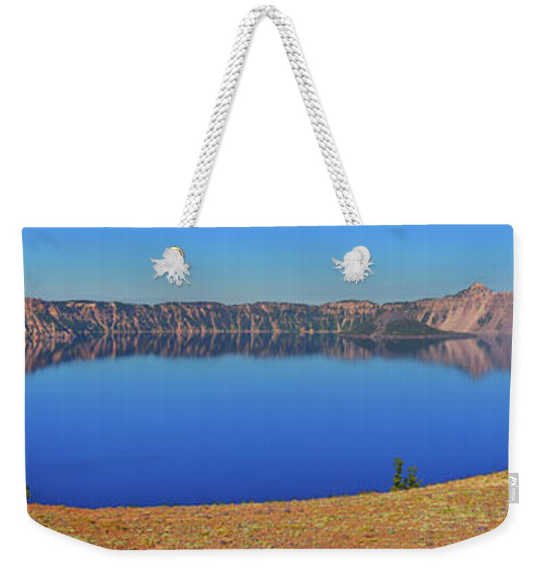 Crater Lake Weekender Tote Bag featuring the photograph Big Blue by Greg Norrell