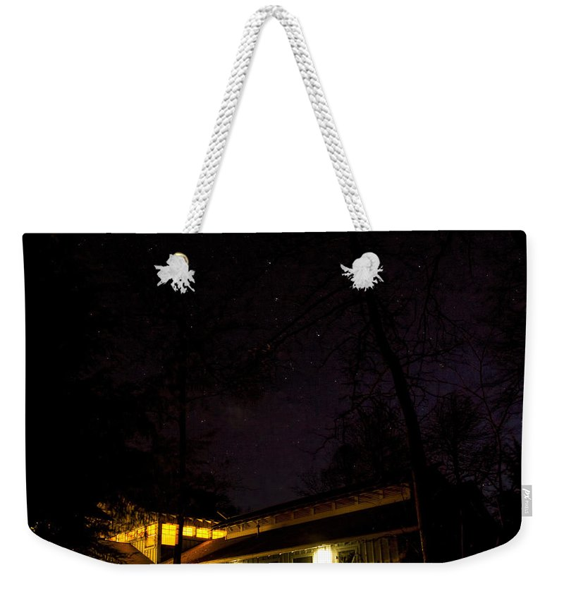 Hike Inn Weekender Tote Bag featuring the photograph Big Dipper Over Hike Inn by Barbara Bowen