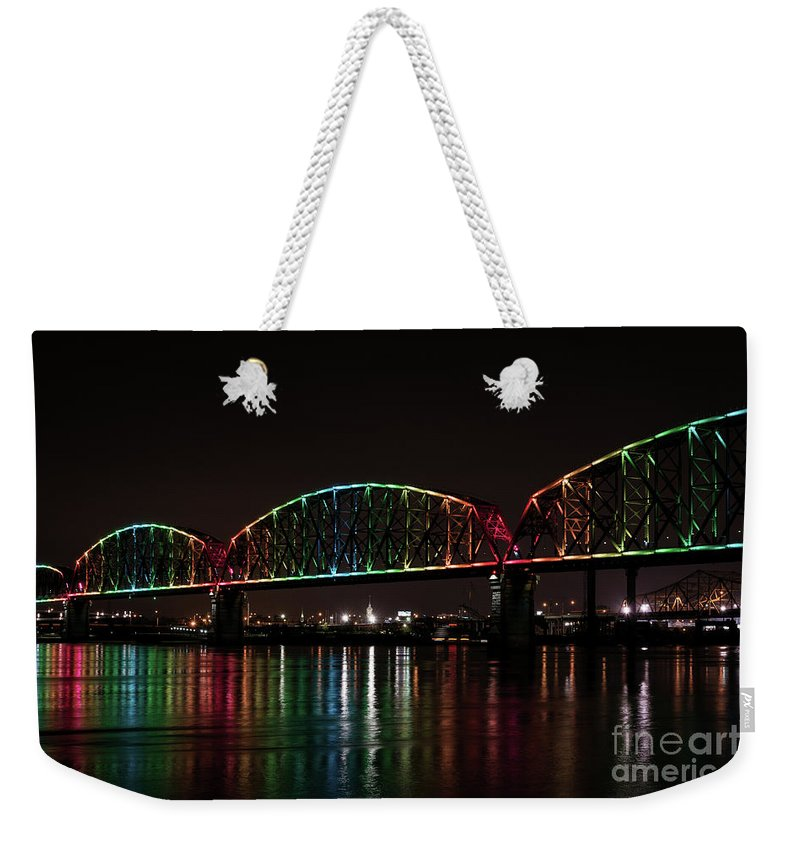 Big Four Bridge Weekender Tote Bag featuring the photograph Big Four Bridge 2215 by Andrea Silies
