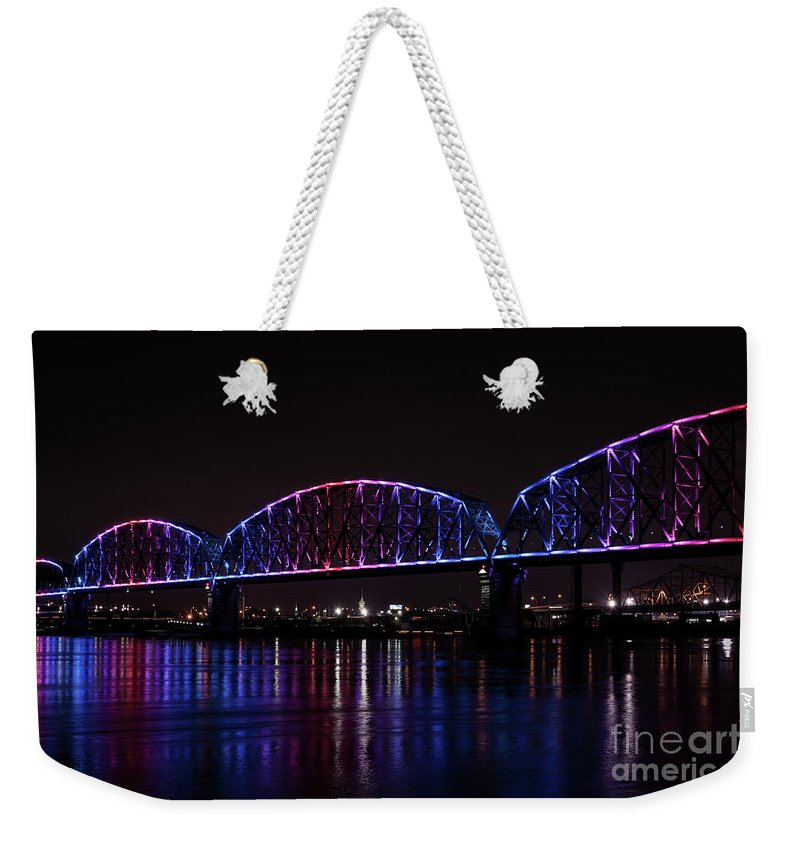 Big Four Bridge Weekender Tote Bag featuring the photograph Big Four Bridge 2217 by Andrea Silies
