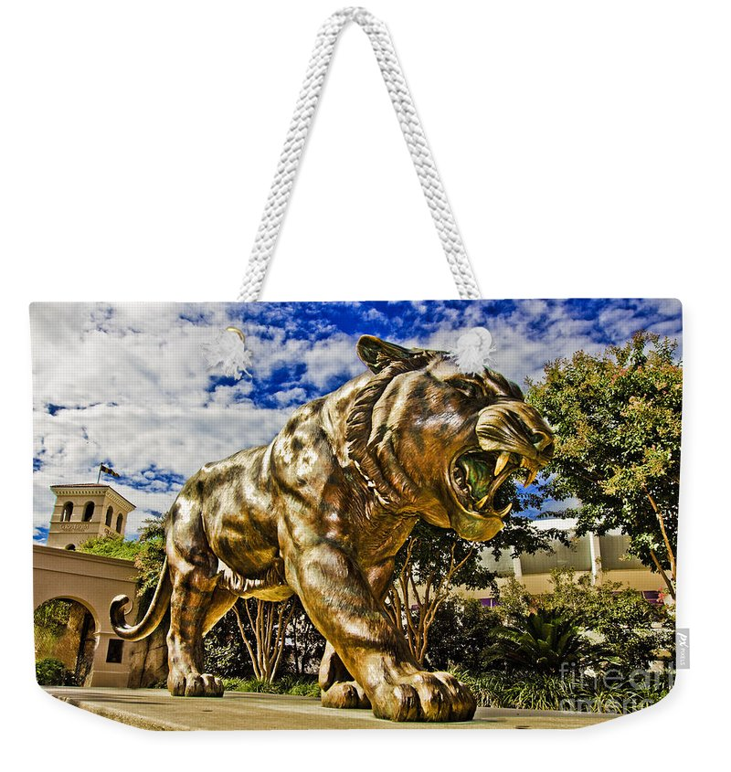Mike The Tiger Weekender Tote Bag featuring the photograph Big Mike by Scott Pellegrin