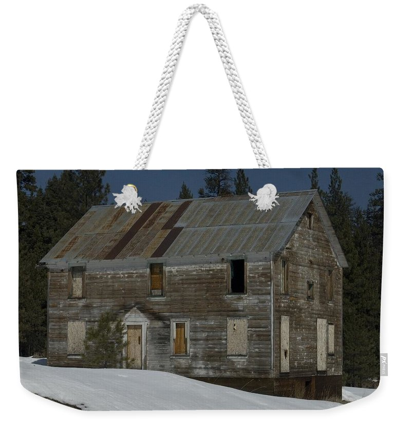 Old Weekender Tote Bag featuring the photograph Big Old House by Sara Stevenson